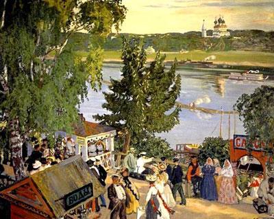 Кустодиев Б. Гуляние